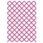 Couture Creations - Mikashet Collection - 5 x 7 Embossing Folder - Cotton Thread Quilt