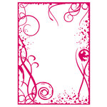 Couture Creations - Mikashet Collection - 5 x 7 Embossing Folder - Grunge Frame
