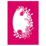 Couture Creations - Mikashet Collection - 5 x 7 Embossing Folder - Vintage Floral Frame