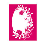 Couture Creations - Mikashet Collection - A2 Embossing Folder - Vintage Floral Frame