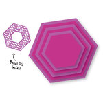 Couture Creations - Sweet Accent Collection - Nesting Dies - Hexagons