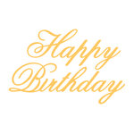 Couture Creations - Everyday Essentials Collection - Designer Dies - Script - Happy Birthday