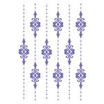 Couture Creations - Hearts Ease Collection - 5 x 7 Embossing Folder - Lilliputana Curtain