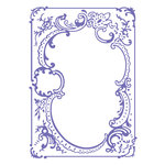 Couture Creations - Hearts Ease Collection - 5 x 7 Embossing Folder - Embroidery