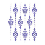 Couture Creations - Hearts Ease Collection - A2 Embossing Folder - Lilliputana Curtain