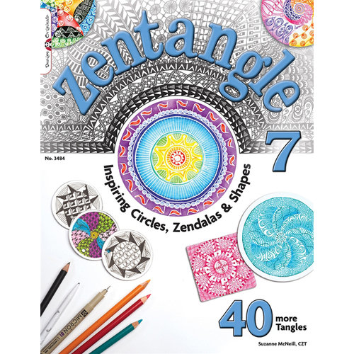 Design Originals - Zentangle 7 Idea Book - Inspiring Circles - Zendalas and Shapes