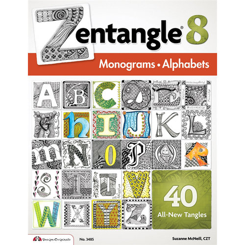 Design Originals - Zentangle 8 Idea Book - Monograms Alphabets