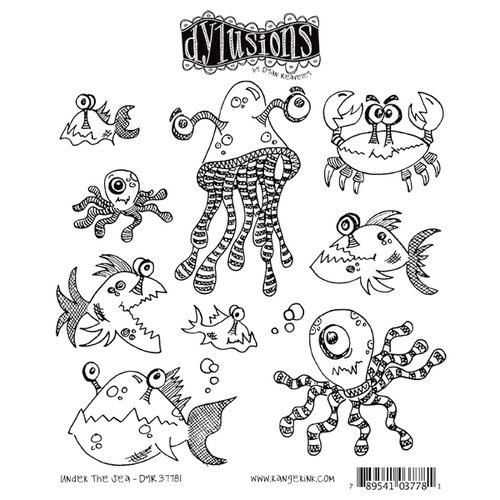 Ranger Ink - Dylusions Stamps - Unmounted Rubber Stamps - Under the Sea