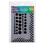Ranger Ink - The Crafter's Workshop - 5 x 8 Doodling Template - Chequered Dots