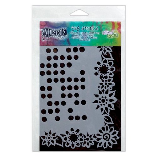 Ranger Ink - The Crafter's Workshop - 5 x 8 Doodling Template - Dotted Flowers