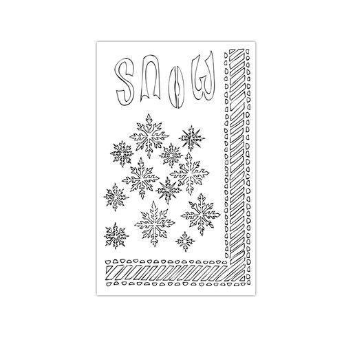 Ranger Ink - The Crafter's Workshop - 5 x 8 Dylusions Stencils - Let it Snow