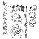 Ranger Ink - Dylusions Stamps - Unmounted Rubber Stamps - Day of the Heads