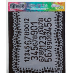 Ranger Ink - The Crafter's Workshop - 9 x 12 Doodling Template - Number Jumble
