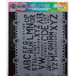Ranger Ink - The Crafter's Workshop - 9 x 12 Doodling Template - Letter Jumble
