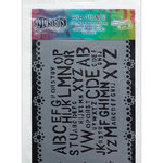 Ranger Ink - The Crafter's Workshop - 5 x 8 Doodling Template - Letter Jumble