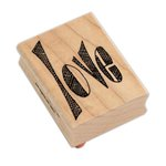 Ranger Ink - Dylusions - Wood Mounted Stamps - Love Word