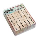 Ranger Ink - Dylusions - Wood Mounted Stamps - Alphabet Set