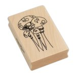 Ranger Ink - Dylusions - Wood Mounted Stamps - Mushroom Madness