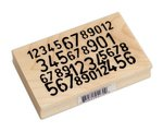 Ranger Ink - Dylusions - Wood Mounted Stamps - Numbers Game