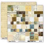 Donna Salazar - Memory Mosaics Collection - 12 x 12 Double Sided Paper - Vintage Paper, CLEARANCE