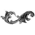 Donna Salazar - Trunk in the Attic Collection - Cling Mounted Rubber Stamp - Big-ish Flourish, CLEARANCE