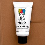 Ranger Ink - Dina Wakley Media - Gesso - Black - 2 Ounce Tube