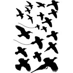 Ranger Ink - Dina Wakley Media - Mask and Stencils - Birds in Flight