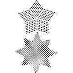 Ranger Ink - Dina Wakley Media - Stencils - Plastic Canvas Stars