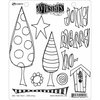 Ranger Ink - Dylusions Stamps - Christmas - Unmounted Rubber Stamps - One Two Tree