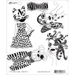Ranger Ink - Dylusions Stamps - Unmounted Rubber Stamps - The Fancy Four