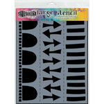 Ranger Ink - Dylusions Stencils - Arrow Border - Large