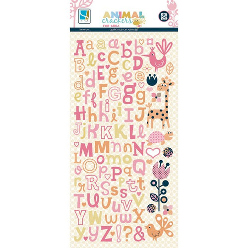 GCD Studios - Animal Crackers for Girls Collection - Rub Ons - Quirky Alphabet