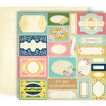 GCD Studios - Splendor Collection - 12 x 12 Double Sided Paper - Labels and Tags