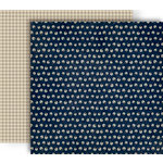 GCD Studios - Splendor Collection - 12 x 12 Double Sided Paper - Navy Flora