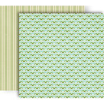 GCD Studios - Splendor Collection - 12 x 12 Double Sided Paper - Woven Chevron
