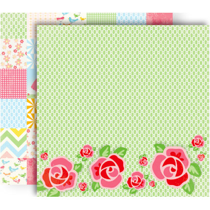 GCD Studios - Oh Happy Day Collection - 12 x 12 Double Sided Paper - Emily Rose