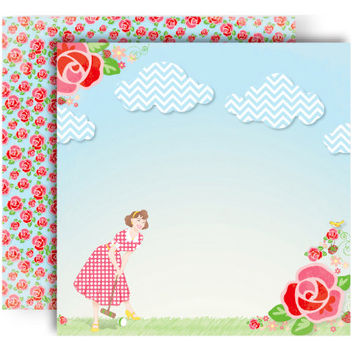 GCD Studios - Oh Happy Day Collection - 12 x 12 Double Sided Paper - Savannah