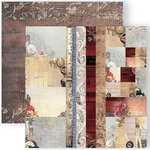 GCD Studios - Donna Salazar - Antiquities Collection - 12 x 12 Double Sided Paper - Tags, Ribbons and Mosaics