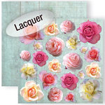 GCD Studios - Donna Salazar - Spring in Bloom Collection - 12 x 12 Double Sided Paper with Varnish Accents - In Bloom