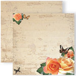 GCD Studios - Donna Salazar - Spring in Bloom Collection - 12 x 12 Double Sided Paper - Peachy Dream