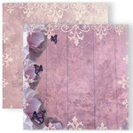 GCD Studios - Donna Salazar - Spring in Bloom Collection - 12 x 12 Double Sided Paper - Pretty in Purple