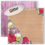GCD Studios - Donna Salazar - Spring in Bloom Collection - 12 x 12 Double Sided Paper with Glitter Accents - Spring Blooms