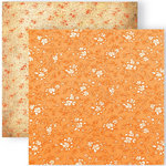 GCD Studios - Melody Ross - Soul Food Collection - 12 x 12 Double Sided Paper - Soul Petit - Orange