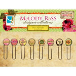 GCD Studios - Melody Ross - Soul Food Collection - Glass Paper Clips - Round
