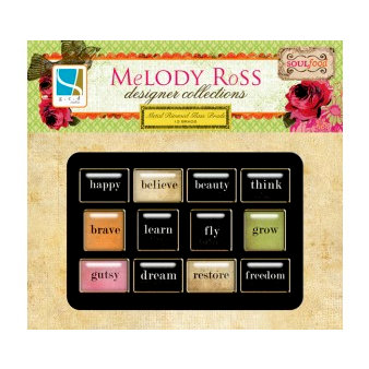 GCD Studios - Melody Ross - Soul Food Collection - Metal Rimmed Glass Brads