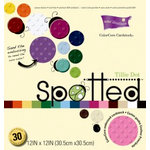 Core'dinations - Spotted Collection - 12 x 12 Color Core Embossed Cardstock Pack - Tillie Dot