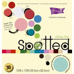 Core'dinations - Spotted Collection - 12 x 12 Color Core Embossed Cardstock Pack - Jillian Dot