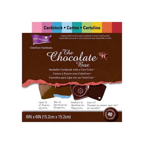 Core'dinations - The Chocolate Box Collection - 6 x 6 Color Core Cardstock Pack