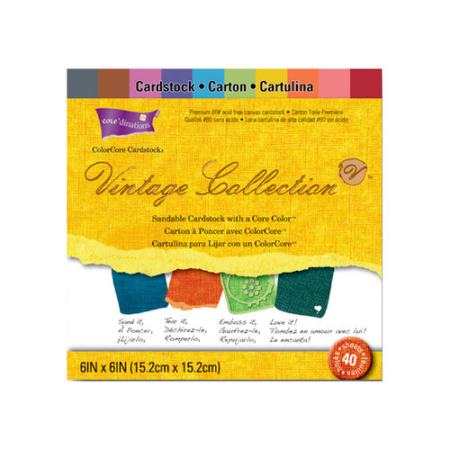 Core'dinations - Vintage Collection - 6 x 6 Color Core Cardstock Pack