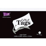 Core'dinations - Core Tags - Large - Textured White